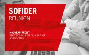 La SOFIDER nous a confié la réfection de son siège, à Saint-Denis.